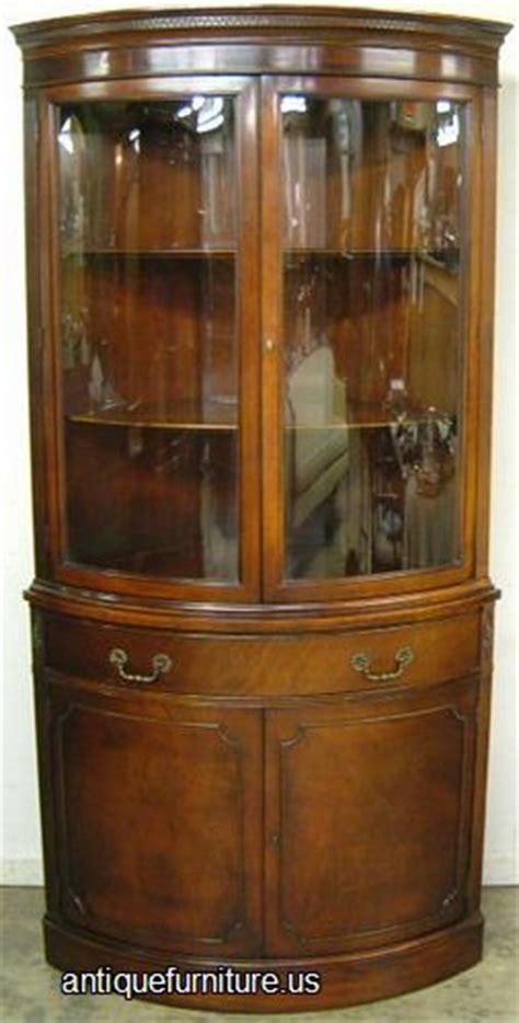 vintage corner cabinet antique mahogany curved glass corner china cabinet at 3179