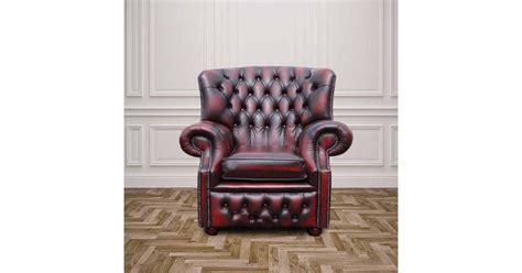 Chesterfield Monks High Back Wing Armchair
