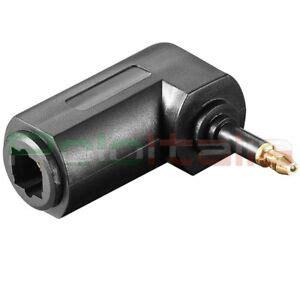 ingresso digitale ottico adattatore angolo90 ruotabile audio toslink ingresso