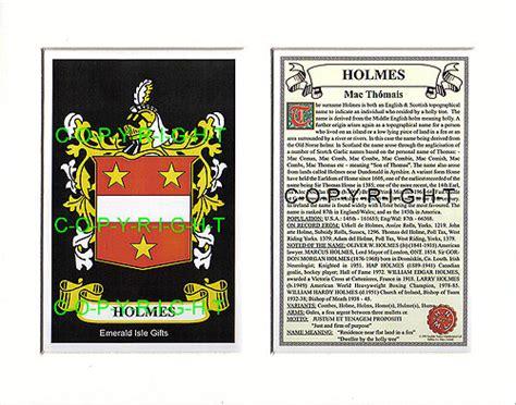 heraldic mounts holmes family crest  history