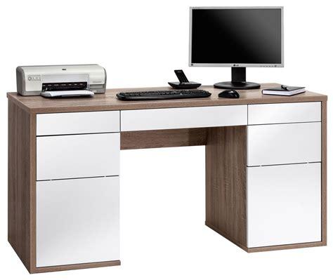 white computer desk maja salzburg oak white computer desk