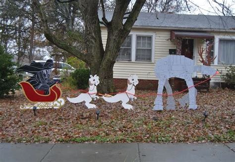 star wars homemade lawn merry sithmas how we made our own wars lawn ornaments wars
