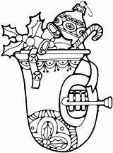 Coloring Horn Kitty Purplekittyyarns sketch template