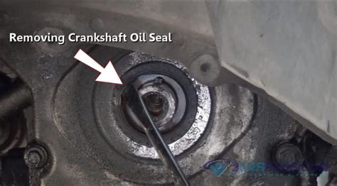 replace  front crankshaft seal    minutes