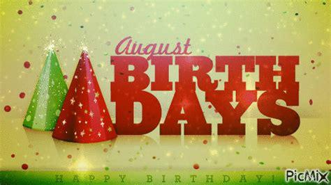 August Birthdays - PicMix