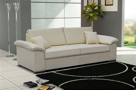 canap 233 convertible cuir pu 3 places dolce blanc chocolat canap 233 s convertibles canap 233 s et