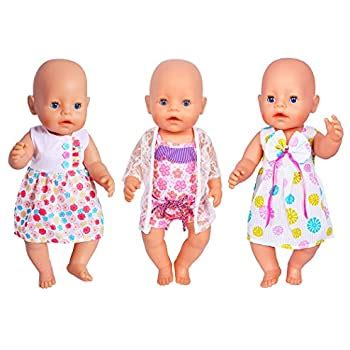 Amazon com: ebuddy 3 Sets Doll Clothes Sets for 14 to 16