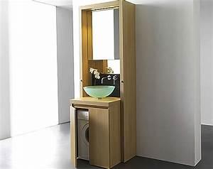 Meuble Pour Machine À Laver : un meuble bain astucieux pour cacher le lave linge ~ Dode.kayakingforconservation.com Idées de Décoration