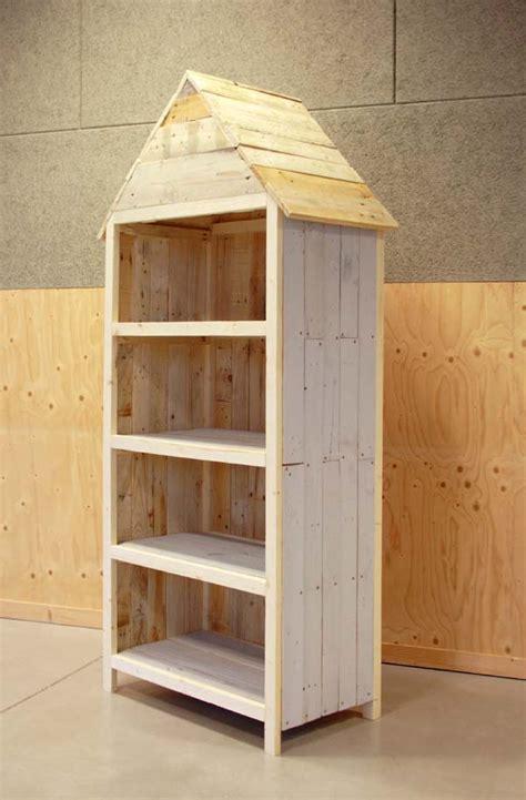 meuble de cuisine d angle meuble de rangement en palette esprit cabane idees