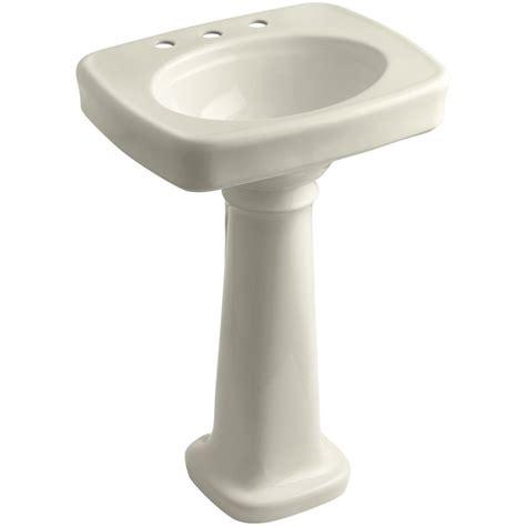 home depot kohler bancroft pedestal sink kohler bancroft 4 in vitreous china pedestal combo