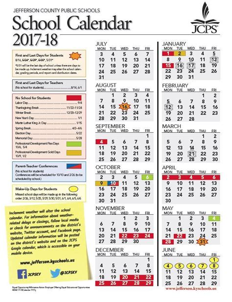 updated jcps calendar year jefferson county public