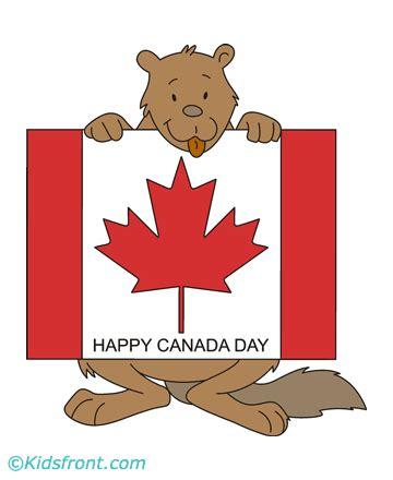 canada day poster coloring pages  kids  color  print