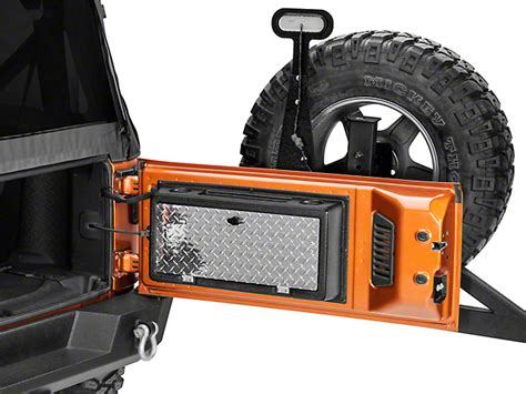 jeep tailgate storage morryde wrangler storegate tailgate storage compartment