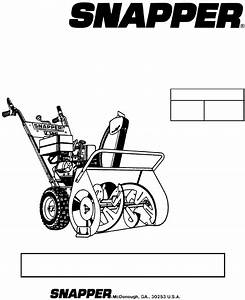 Snapper Snow Blower 155224 User Guide
