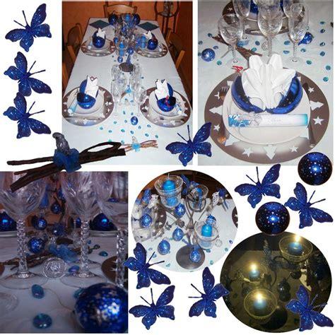 deco de noel bleu et argent deco table noel bleu argent atlub