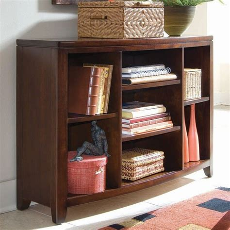 Bookcase Console by Tribecca Bookcase Console American Drew Furniture Cart