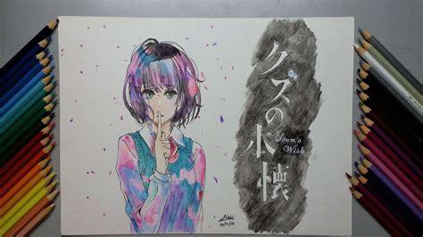 Drawing Of Hanabi Yasuraoka From Kuzu No Honkai (scum's