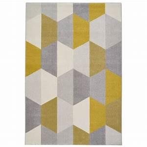 Tapis Bleu Scandinave : tapis de salon jaune achat vente tapis de salon jaune pas cher cdiscount ~ Teatrodelosmanantiales.com Idées de Décoration