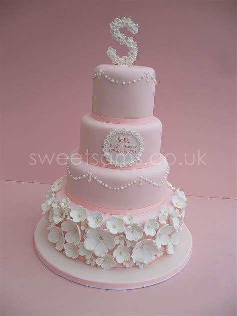 christening cake girls ideas  pinterest baby