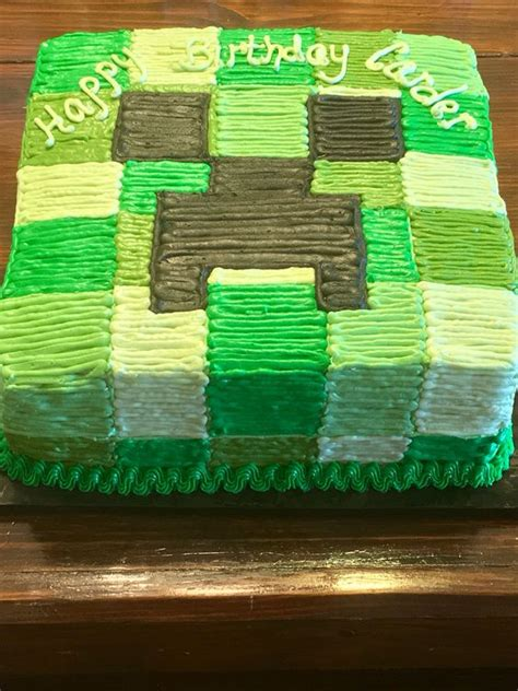 Minecraft Creepers And Cakes On Pinterest