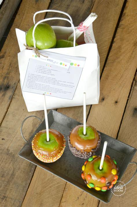 caramel apples gift kit  fall printables  idea room