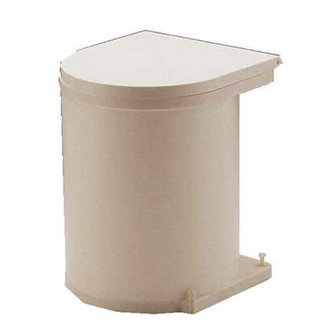 poubelle cuisine porte poubelle de porte automatique 1 seau de 13 litres bricozor
