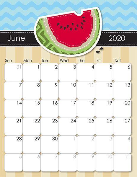 whimsical printable calendar  moms june calendar
