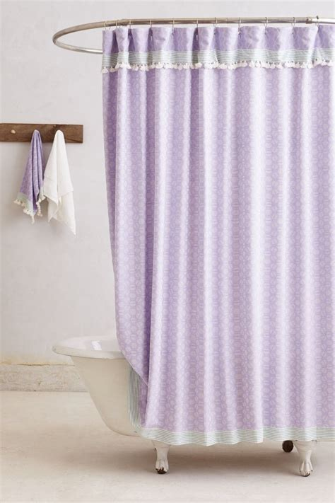 lavender shower curtain  anthro perfectly purple