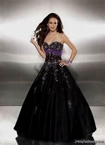 black and purple wedding dress 2016 2017 b2b fashion With black wedding dresses 2017