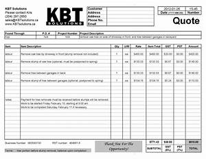 professional quotes receipts example tree removal With tree work invoice
