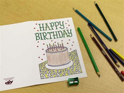 downloadable adult coloring greeting cards diy
