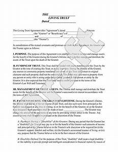 living trust form sample living trust template With sample living trust document