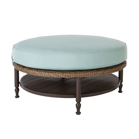 round ottoman coffee table brown jordan vineyard patio ottoman coffee table with
