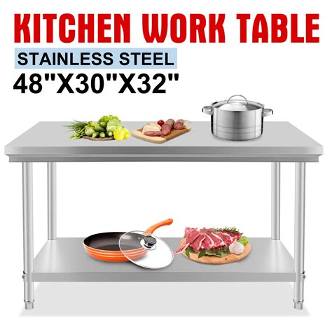"Stainless Steel Commercial Kitchen Work Prep Table 30"" X"