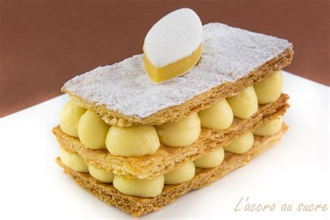 dessert a la creme patissiere mille feuilles 224 la cr 232 me de calisson recettes de desserts plus de 1000 recettes sur