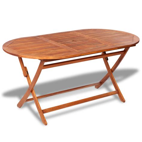 oval wood patio table oval wooden outdoor dining table vidaxl