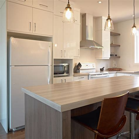 comptoir cuisine stratifié idée relooking cuisine cuisine style contemporain avec comptoir de stratifié plus épais pour