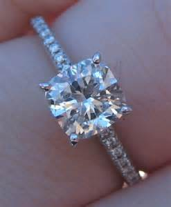 cushion cut solitaire engagement rings cushion cut cushion cut solitaire engagement ring