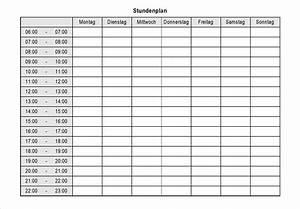 überstunden Berechnen Excel : kostenlose wochenplan excel ~ Themetempest.com Abrechnung