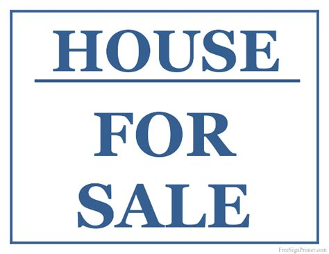 sale signs printable printable house for sale sign