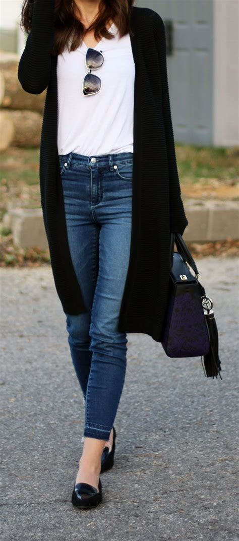 Best 25+ Black blouse outfit ideas on Pinterest   Womenu0026#39;s black and white jeans Outfit with ...