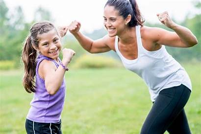 Positive Flexing Muscles Child Fitness Messages Kid