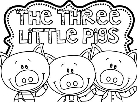 awesome Three Little Pigs Coloring Page Three little