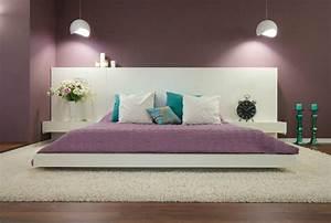 chambre a coucher moderne design ou romantique With peinture couleur bois de rose 1 couleur peinture salon conseils et 90 photos pour vous