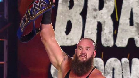 wwe wrestlemania results braun strowman beats goldberg