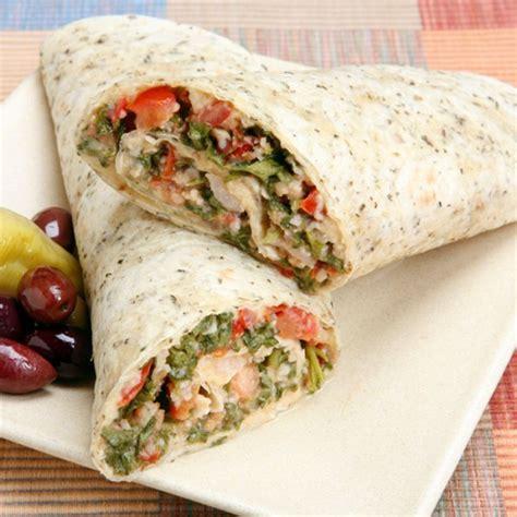 Mediterranean Vegetarian Wrap