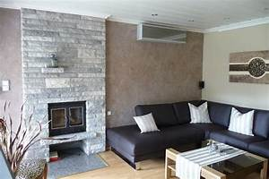 Mauer Wand Wohnzimmer : dekoration ideen gestaltung wohnzimmer ~ Lizthompson.info Haus und Dekorationen