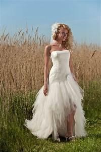 robe de mariee ivoire courte devant avec legere traine With robe de mariée brive
