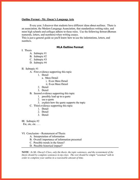 apa formal outline apa style outline template memo example