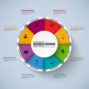 Infographic Circle Vector Design Template  Can Be Used For